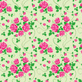 Free Vector Seamless Pattern With Rose Royalty Free Stock Image - 28386126