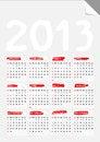 Free Fold Corner Paper Calendar 2013 Stock Images - 28386834