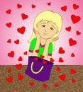 Free Bag Of Hearts Royalty Free Stock Image - 28386966