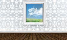 Free Window In Bright Interior Stock Photo - 28382130