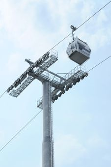 Free Cable Car And Pole On Sky Stock Photography - 28383012
