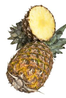 Free Pineapple On White Stock Photos - 28385183