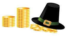 Free Leprechaun Hat And Coins Stock Photo - 28386190