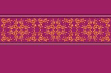 Free Purple Pattern With Yellow Flower Lace Stock Photography - 28386202