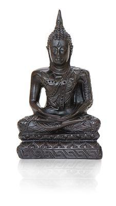 Traditional Bronze Buddha Statuette On White Stock Photo
