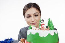 Free Woman Preparing Cake Stock Images - 28388224