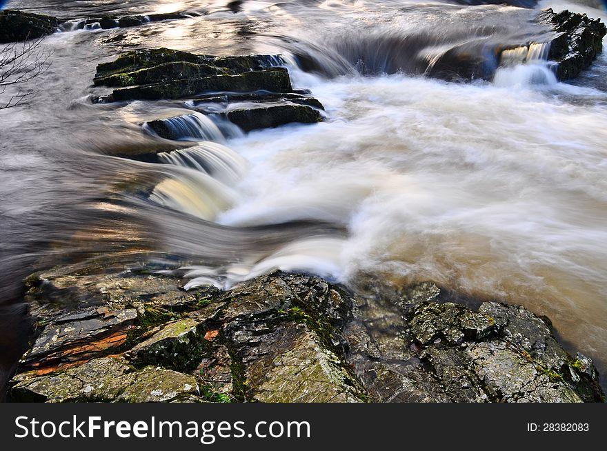 Fast running river