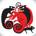 Free Black And Red Chameleons Royalty Free Stock Images - 28392169