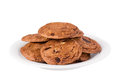 Free Cookie With Chocolate Pieces Royalty Free Stock Photos - 28395748