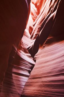 Free Sun Light Through Upper Antelope Canyon Stock Image - 28391761