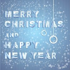 Free Paper Typography For The Christmas And New Year Stock Images - 28392174
