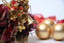 Free Christmas Bells Background Royalty Free Stock Photos - 28392378