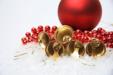 Free Christmas Bells Background Royalty Free Stock Image - 28392386