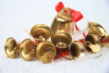 Free Christmas Bells Background Royalty Free Stock Image - 28392396
