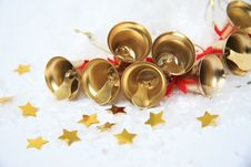Free Christmas Bells Background Royalty Free Stock Images - 28392399