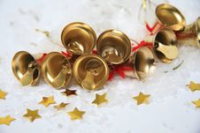 Free Christmas Bells Background Royalty Free Stock Photo - 28392405