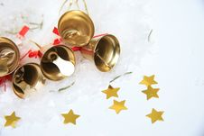 Free Christmas Bells Background Royalty Free Stock Image - 28392406