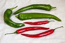Free Green And Red Pepper Chili Royalty Free Stock Image - 28392646