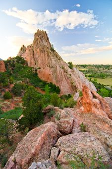 Free Rock Formation At Garden Of The Gods In Colorado Springs, Colorado Royalty Free Stock Photo - 28394485
