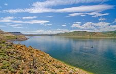 Blue Mesa Reservoir In The Curecanti National Recreation Area In Southern Colorado Royalty Free Stock Photography