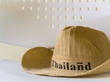 Free A Hat Is On A White Chair Royalty Free Stock Images - 28395209