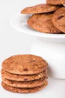 Cookie With Chocolate Pieces Stock Images