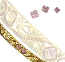 Free Pink Diamond Bangle Royalty Free Stock Photography - 28396167