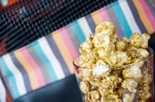 Free Caramel Popcorn In Glass Royalty Free Stock Photo - 28397025