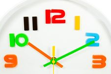 Free Color Full Wall Clock  Isolated Stock Photo - 28397170