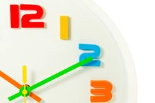 Free Color Full Wall Clock  Isolated Royalty Free Stock Photo - 28397175