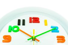 Free Color Full Wall Clock  Isolated Royalty Free Stock Photos - 28397178