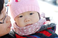 Free Hat Scarf Chinese Girl Stock Photography - 28397192