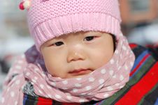 Free Hat Scarf Chinese Girl Stock Photography - 28397402