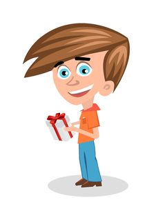 Free Boy With A Gift Royalty Free Stock Images - 28399559