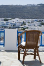 Free View  Hotel Deck Greek Island Royalty Free Stock Photo - 2844425