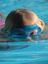 Free Goggle Girl In Pool Stock Photography - 2844722