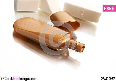 Liquid makeup Stock Photo
