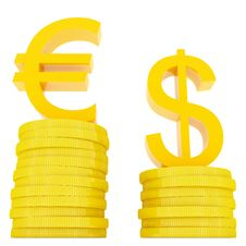 Free Euro And Dollar Stock Photo - 2840180