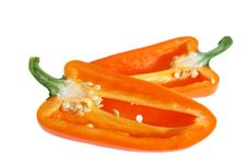 Free Two Half Of Orange Pepper Royalty Free Stock Photography - 2842147