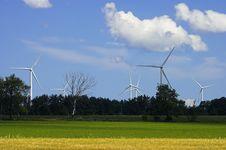 Free Windmill Farm Royalty Free Stock Photo - 2842675