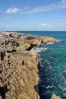 Rocky Cay Coast Royalty Free Stock Photography