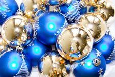 Glass Christmas Ornaments Stock Photos