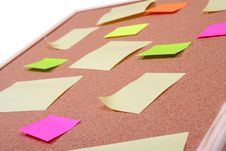 Board With Blank Papers Royalty Free Stock Images