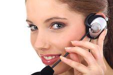 Free Beautiful Customer Support Girl Royalty Free Stock Photo - 2844005