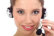 Free Beautiful Customer Support Girl Stock Photo - 2844020