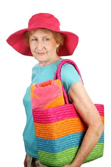 Free Summer Senior - Looks Back Stock Images - 2846994
