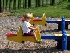 Free Young Boy At Playground Stock Photo - 2847210