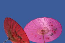 Free Red And Pink Parasols Royalty Free Stock Image - 2847776