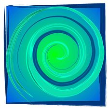 Free Swirl Spiral Tile - Blue Green Stock Photography - 2848712