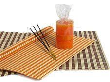 Free Aromas Sticks And Orange Candl Stock Images - 2849304